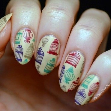 Rust-ic Cages nail art by Furious Filer