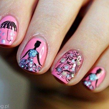 Cinderella nail art by Amethyst