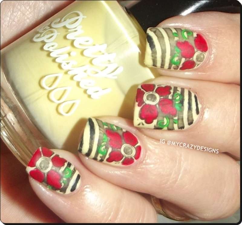 Design with various colors nail art by Mycrazydesigns