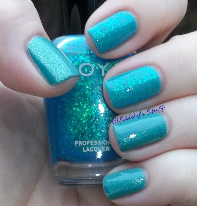 Flakies and color blocking nail art by Jenette Maitland-Tomblin