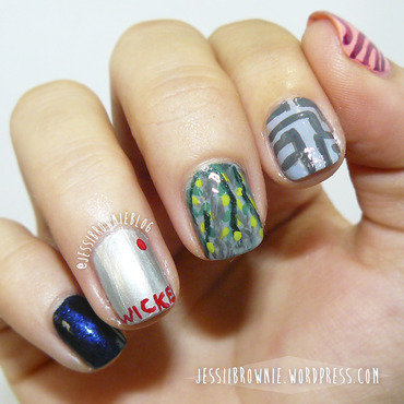Maze Runner inspired nails nail art by Jessi Brownie (Jessi)