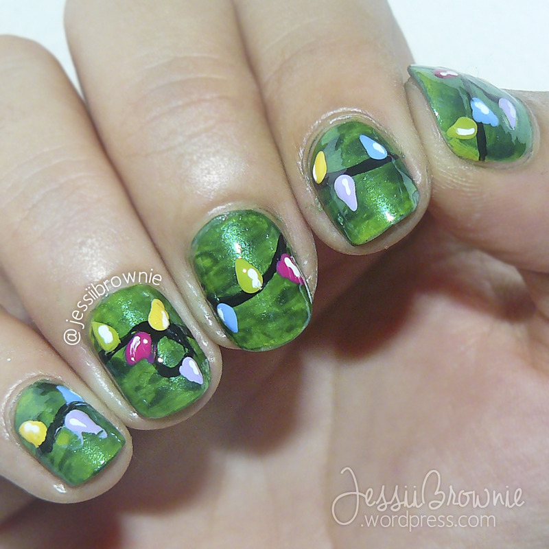 Christmas Lights nail art by Jessi Brownie (Jessi)