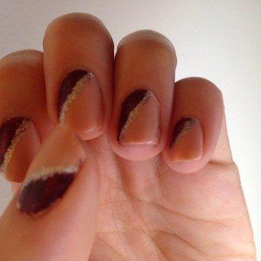 Winter Nude Geometric  nail art by htmaria