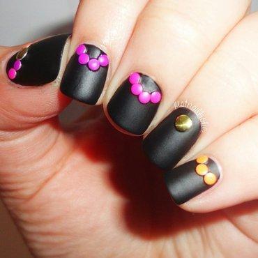 Matte Neon Studs nail art by Melany Antelo