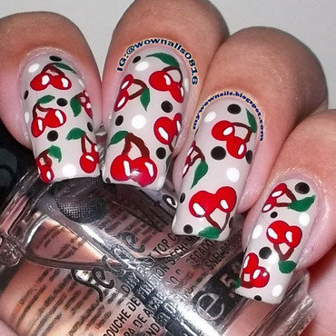 Cherry Bomb nail art by Paula of Wow Nails