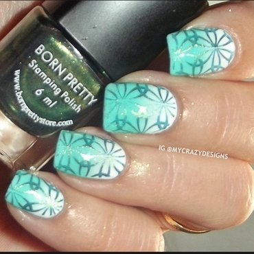 Design with stamping polish nail art by Mycrazydesigns