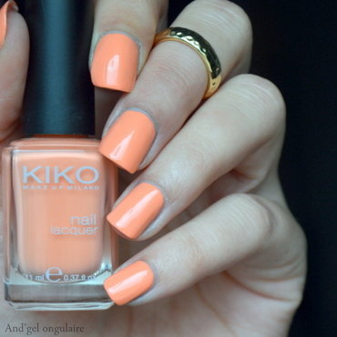 Kiko Light Peach Swatch by And'gel ongulaire