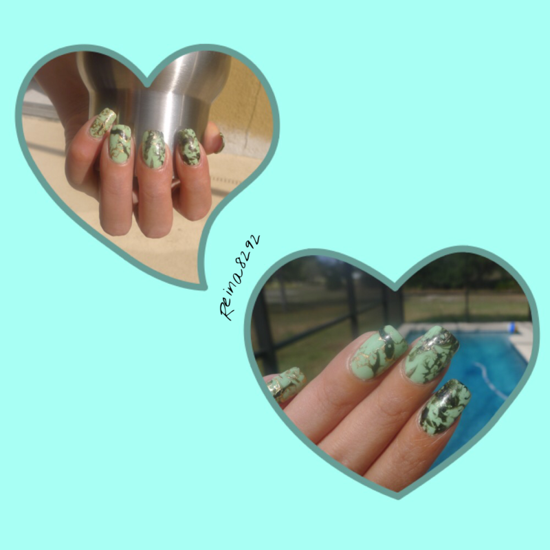 Marble  nail art by Reina