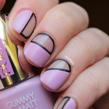 Negative Manicure - Gummy Lilac nail art by Fran Nails