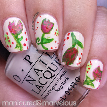 Flower Power nail art by Rose Mercedes