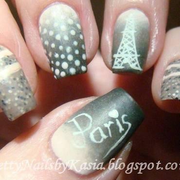 Paris, je t'aime nail art by Pretty Nails by Kasia