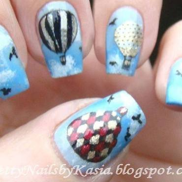 Balloons ;) nail art by Pretty Nails by Kasia