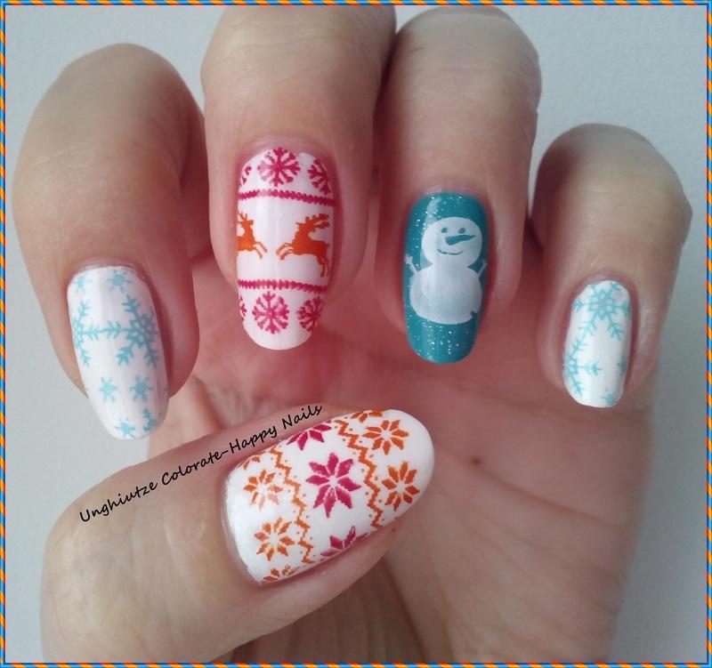 Winter mani nail art by Oana  Alexandru