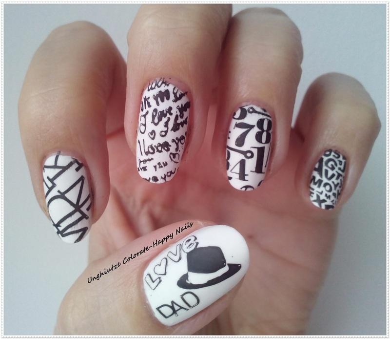 Mani for my DAD nail art by Oana  Alexandru