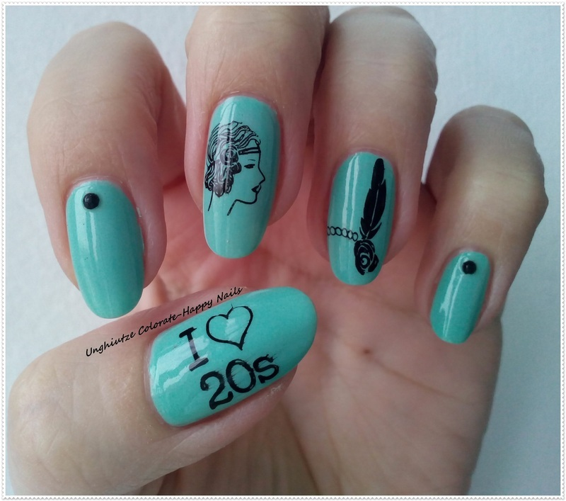 Vintage nail art by Oana  Alexandru