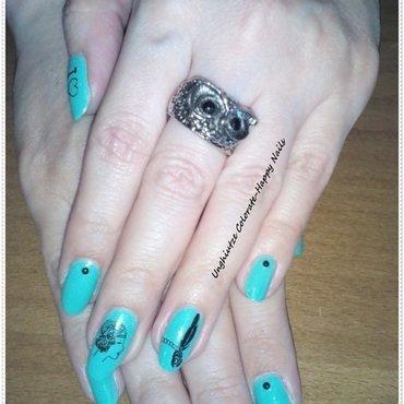 Vintage 1 nail art by Oana  Alexandru