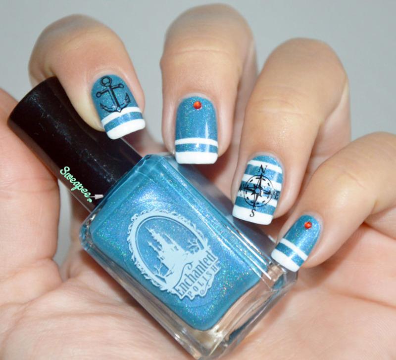 Marine ! nail art by Sweapee