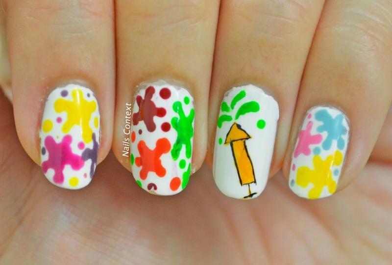 Holi Hai nail art by NailsContext