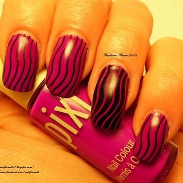 Wavy Lines  nail art by Angelique Adams