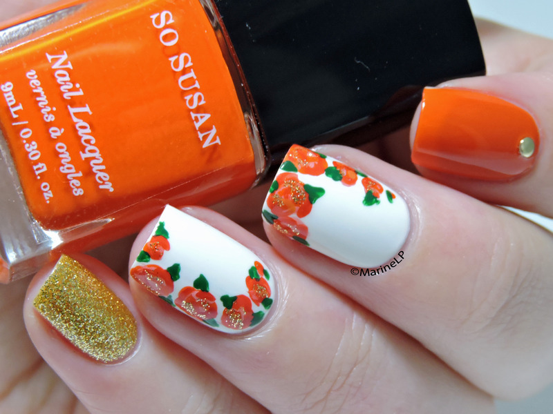 Floral mix & match nail art by Marine Loves Polish