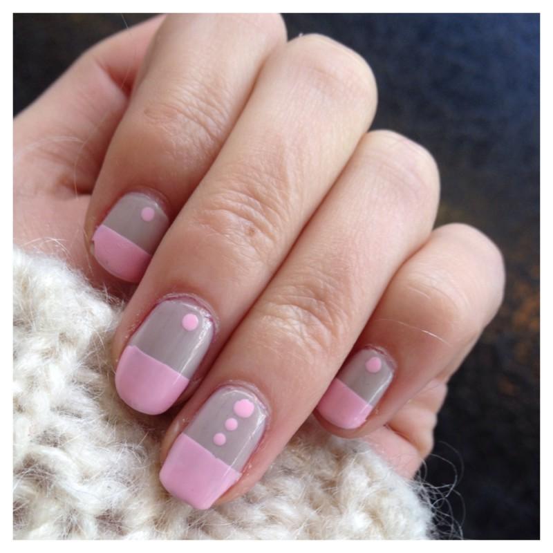 Nailart bicolore nail art by Dju Nails