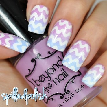 Pastel Squiggles nail art by Maddy S