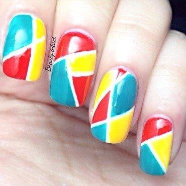 Mosaic nails nail art by Beauty Intact