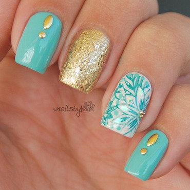 Minty Mani nail art by xNailsByMiri