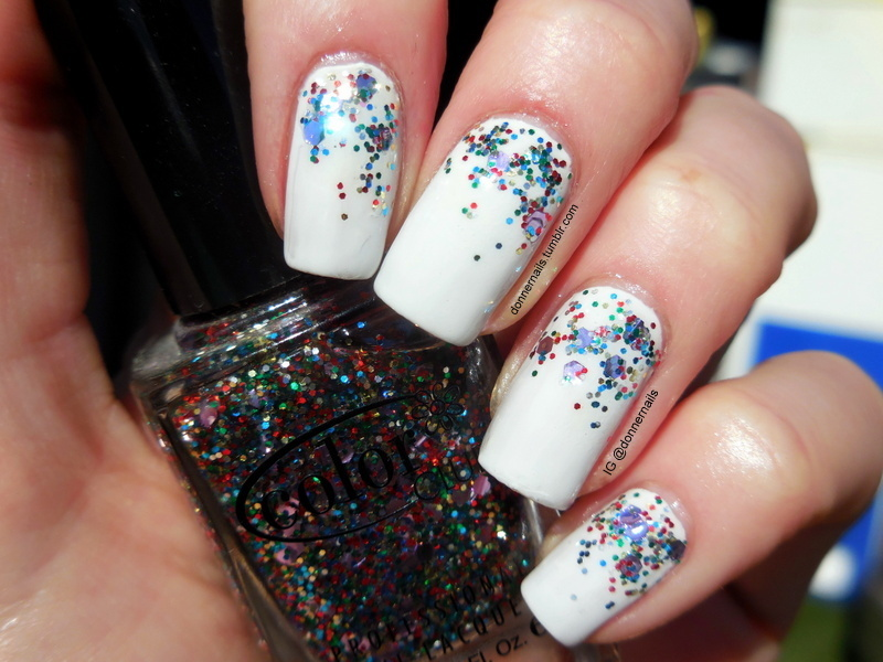 Party nail art by Donner