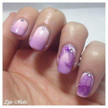 Un anniversaire poudré pour Loobee nail art by Dju Nails