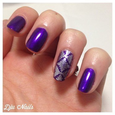 A Stampy Birthday To Marine ! nail art by Dju Nails