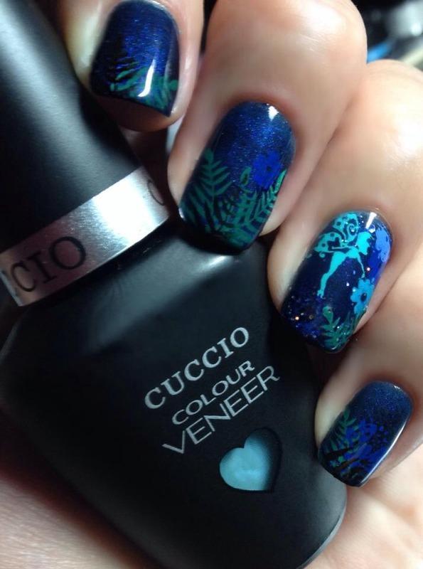 Cuccio Veneer On The Nile Blue Swatches and Nail Art - Nailpolis ...