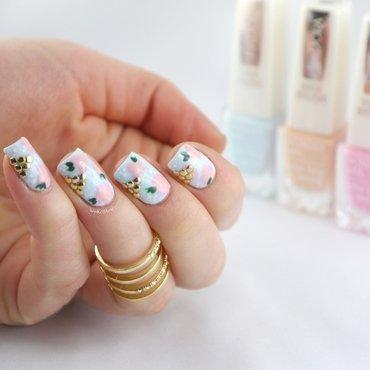 Vintage Nails Cloudy Peach FULL nail art by Ann-Kristin