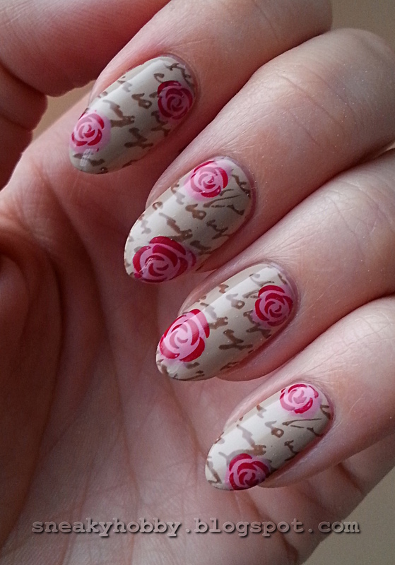 Vintage Letter nail art by Mgielka M