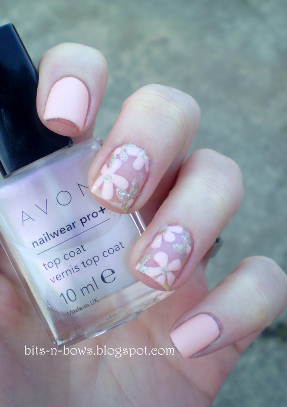 Floral Negative Space nail art by Kristina