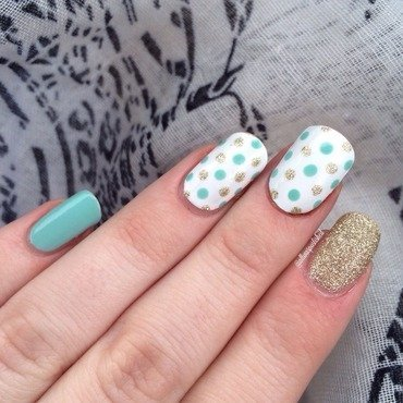 Mint Dotticure nail art by allwaspolished