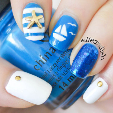 Nautical Boat Nails nail art by elleandish