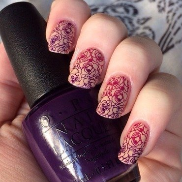 Gradient Stamping nail art by allwaspolished