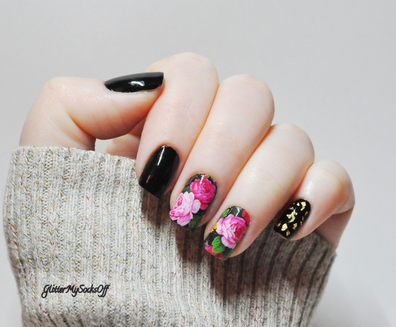 My dear peony  nail art by GlitterMySocksOff