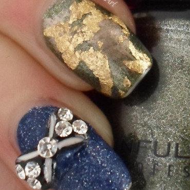 Jade Stone Nail Art nail art by Free_Spirit_Nail_Art