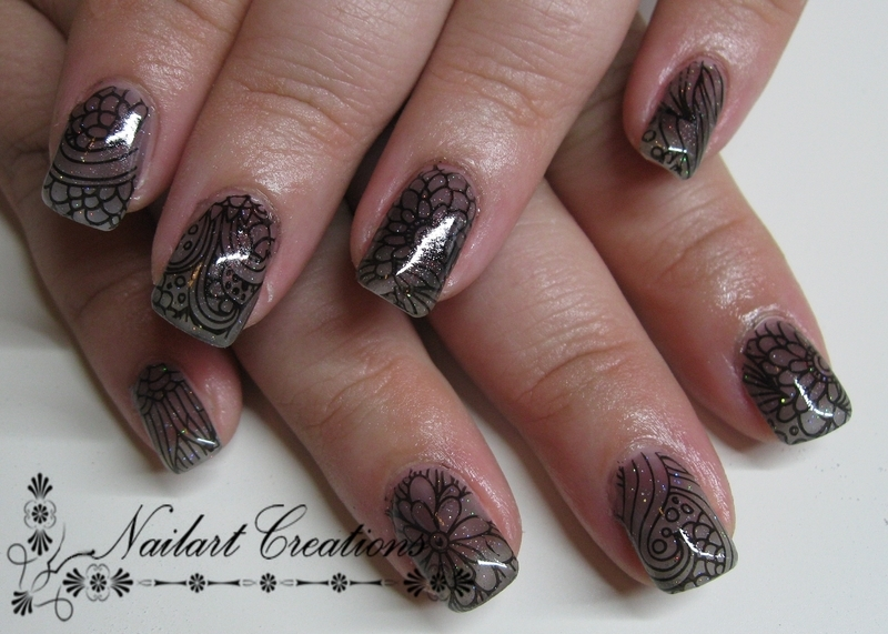 See Through nail art by Nailart Creations