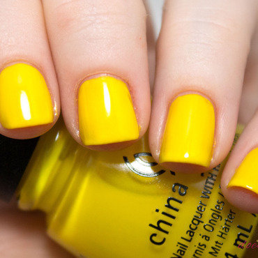 China Glaze Sun's Up, Top Down Swatch by Julie