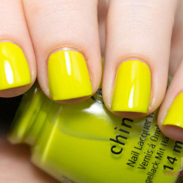 China Glaze Trip of A Lime Time Swatch by Julie