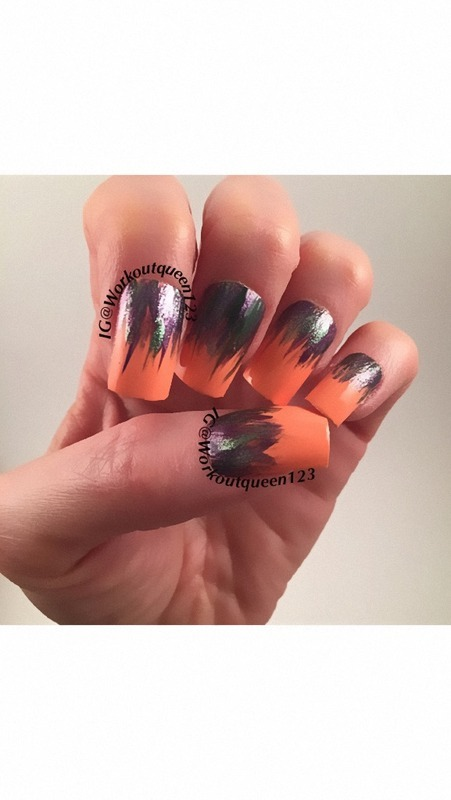 Water Fall  nail art by Workoutqueen123