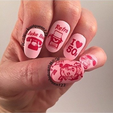 Back to 50's nail art by Workoutqueen123