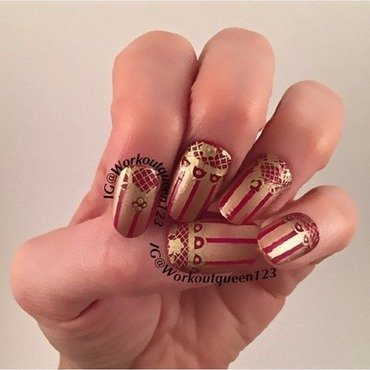 Vertical Stripes nail art by Workoutqueen123