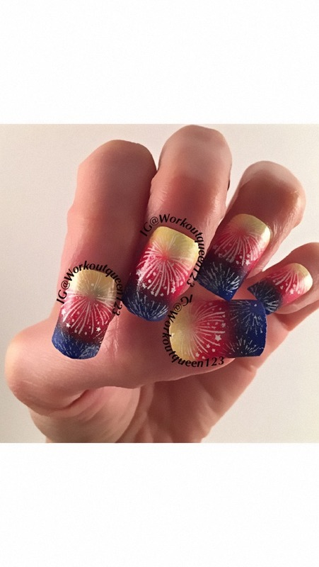 Festival of Colours nail art by Workoutqueen123