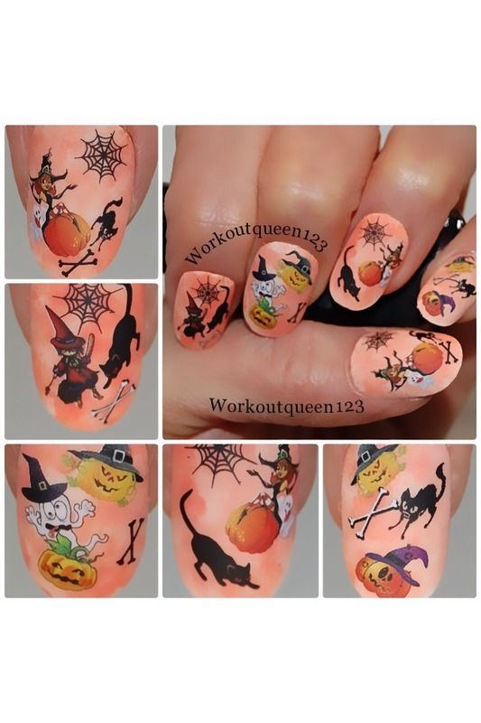 Happy Halloween nail art by Workoutqueen123