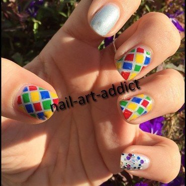 Nail Art : Mardi Gras nail art by SowNails