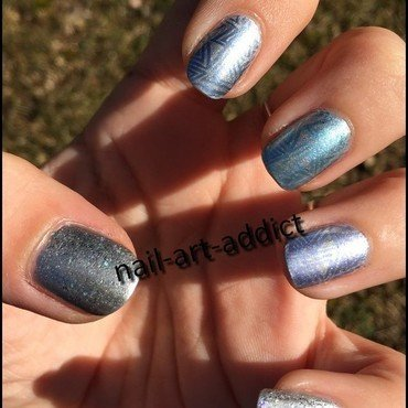 A Stamping Birthday To Marine nail art by SowNails